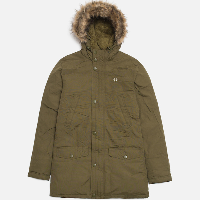 Мужская куртка Fred Perry Down Parka Dark Olive