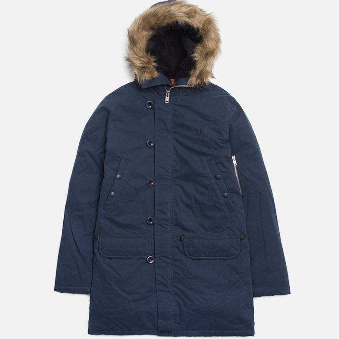 Мужская куртка Fred Perry Down Snorkel Parka Dark Carbon