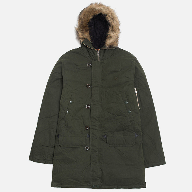 Мужская куртка Fred Perry Down Snorkel Parka Hunting Green