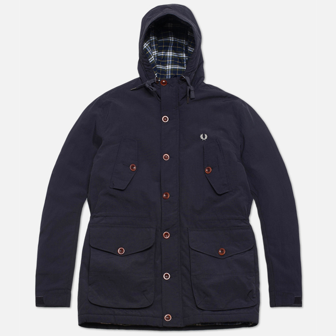 Fred Perry Mountain Parka Wadded Jacket Navy