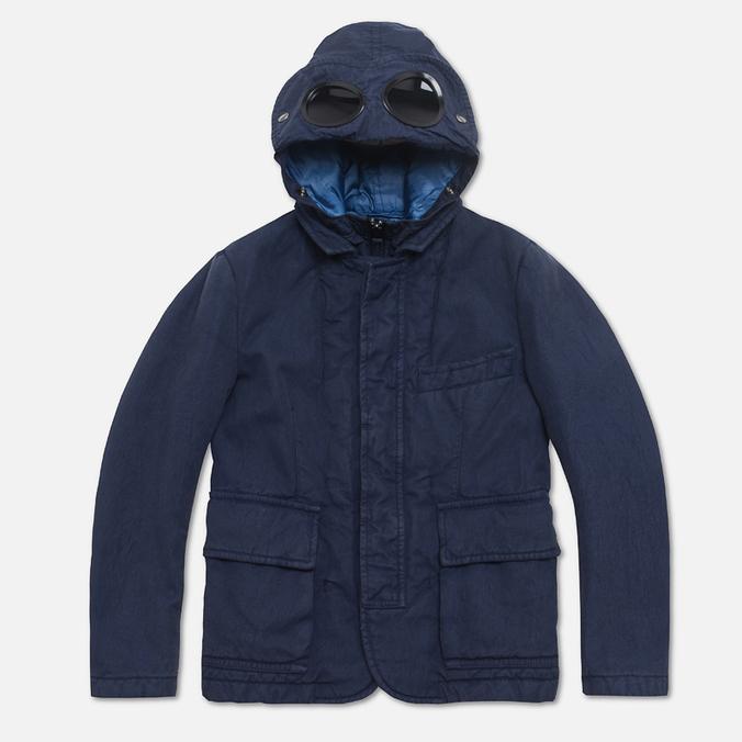 C.P. Company U16 Cotton Nylon Goggle Children's Jacket Navy