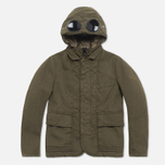 C.P. Company U16 Cotton Nylon Goggle Children's Jacket Olive photo- 0