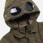 C.P. Company U16 Cotton Nylon Goggle Children's Jacket Olive photo- 1