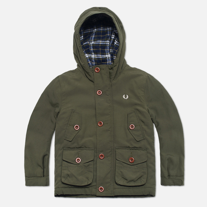 Fred Perry Mountain Parka  Wadded Children's Jacket Thorn