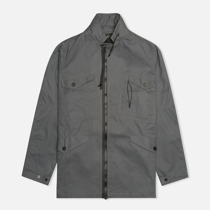 Maharishi Field Coated Organic Cotton Men`s Jacket Charcoal