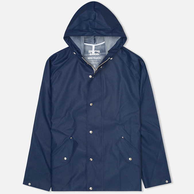 Мужская куртка дождевик Norse Projects x Elka Classic Dark Navy
