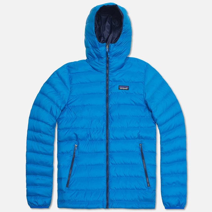 Мужской пуховик Patagonia Down Sweater Hoody Andes Blue