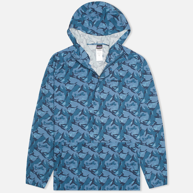 Patagonia Stretch Terre Planning Pullover Men`s Jacket Camo Glass Blue