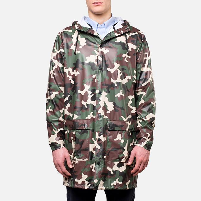 Rains Long Coat Camo