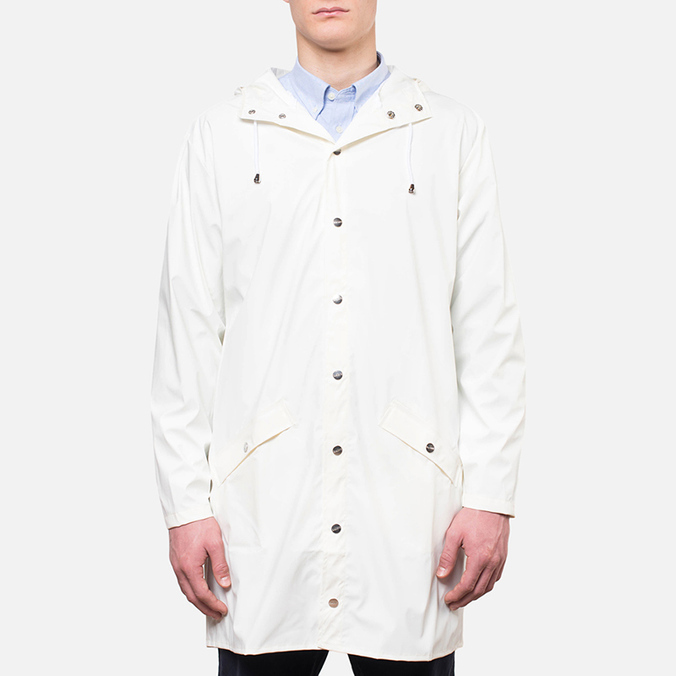 Мужская куртка Rains Long Jacket White