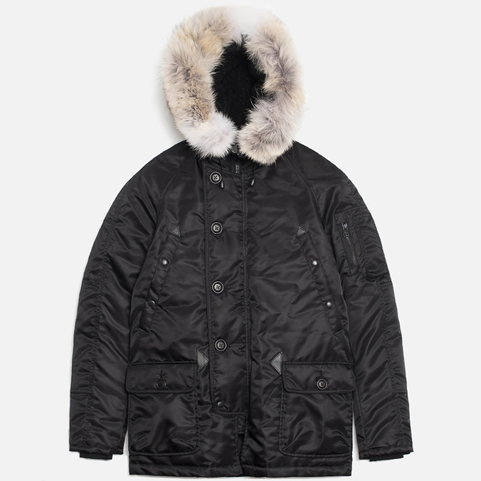 Мужская куртка Spiewak Golden Fleece Flight Satin N3B Parka Black