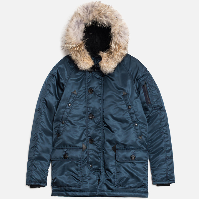 Мужская куртка Spiewak Golden Fleece Flight Satin N3B Parka Blue