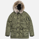 Мужская куртка Spiewak Golden Fleece Flight Satin N3B Parka Green фото- 0