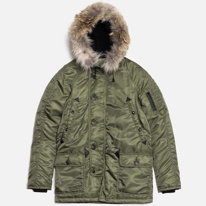 Spiewak Golden Fleece Flight Satin N3B Parka Jacket Green