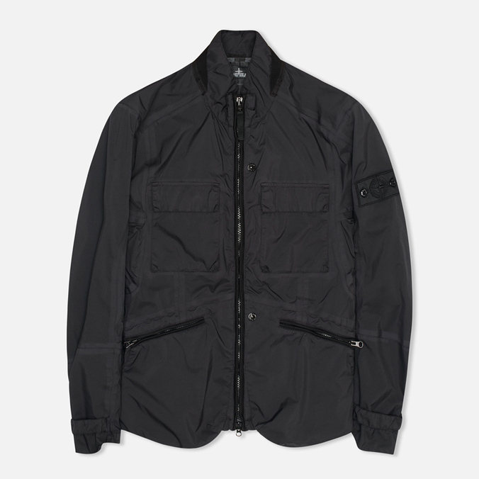 Мужская куртка бомбер Stone Island Shadow Project Field Pulver-R 3L Black