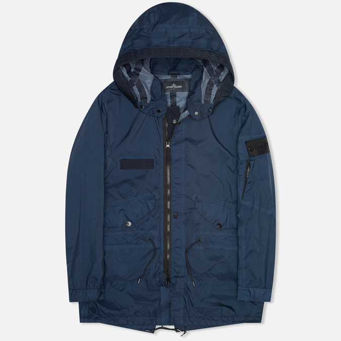 Мужская куртка парка Stone Island Shadow Project Fishtail Parka Pulver-R 3L Dark Navy