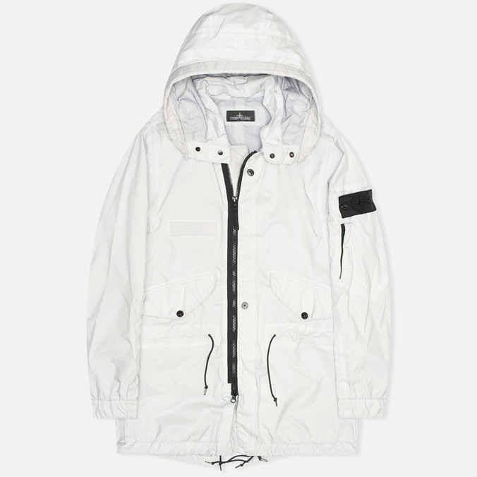 Мужская куртка парка Stone Island Shadow Project Fishtail Parka Pulver-R 3L Light Grey