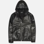 Мужская куртка Stone Island Shadow Project Hooded Bonded Leather Black фото- 0