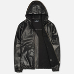 Мужская куртка Stone Island Shadow Project Hooded Bonded Leather Black фото- 1