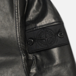 Stone Island Shadow Project Hooded Bonded Leather Jacket Black photo- 5
