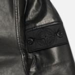 Мужская куртка Stone Island Shadow Project Hooded Bonded Leather Black фото- 5