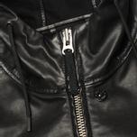 Мужская куртка Stone Island Shadow Project Hooded Bonded Leather Black фото- 2