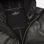 Stone Island Shadow Project Hooded Bonded Leather Jacket Black photo- 3