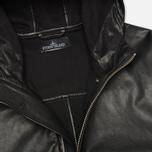 Мужская куртка Stone Island Shadow Project Hooded Bonded Leather Black фото- 3