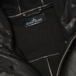 Мужская куртка Stone Island Shadow Project Hooded Bonded Leather Black фото- 4
