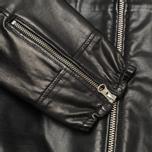Мужская куртка Stone Island Shadow Project Hooded Bonded Leather Black фото- 7