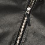 Мужская куртка Stone Island Shadow Project Hooded Bonded Leather Black фото- 6