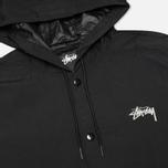 Мужская куртка Stussy Long Hooded Black фото- 2