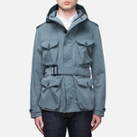 Мужская куртка Ten C Smock Snow Cadet Blue фото- 0