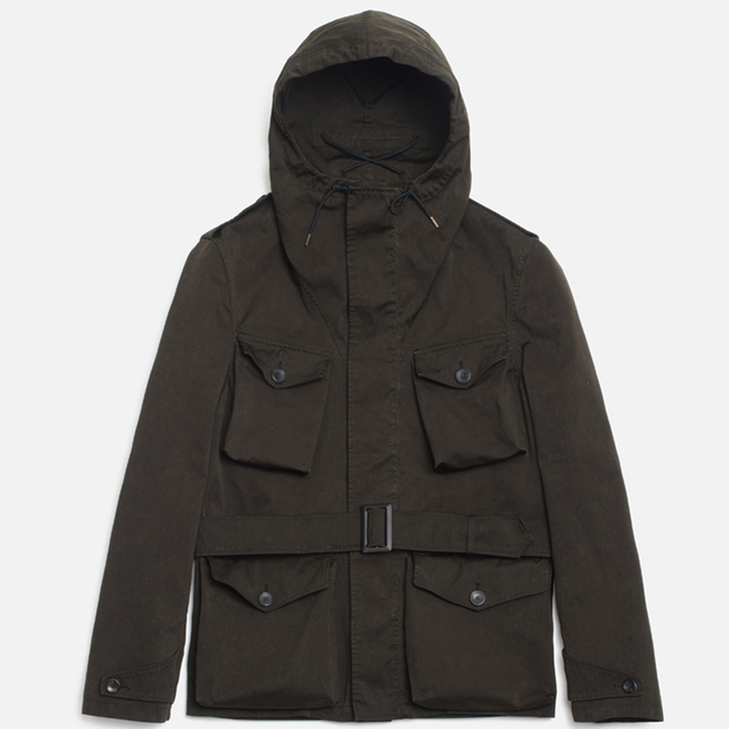 Мужская куртка Ten C Smock Snow Olive