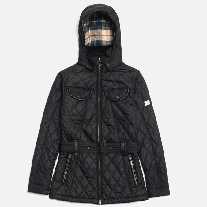 Женская куртка Barbour x Land Rover Clovencrag Quilt Black