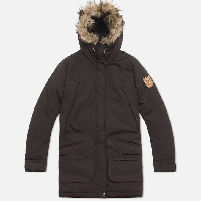 Женская куртка Fjallraven Kyla Parka Black/Brown