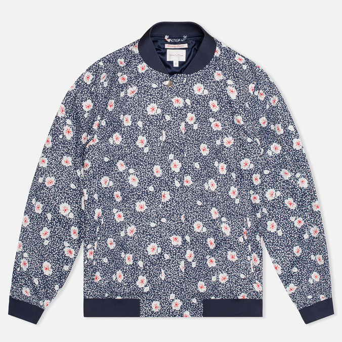 Женская куртка бомбер Gant Rugger Blooming Bomber Evening Blue