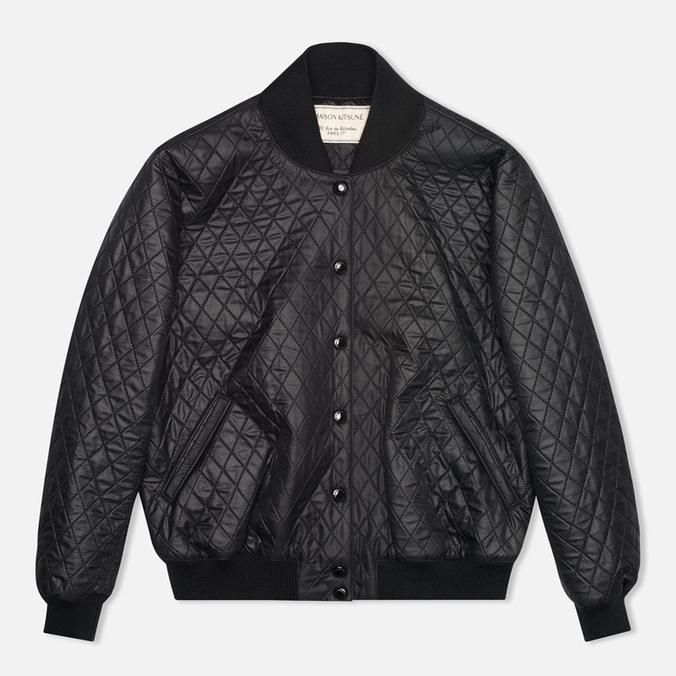 Женская куртка бомбер Maison Kitsune Quilted Teddy Black