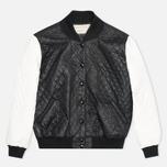 Женская куртка бомбер Maison Kitsune Quilted Teddy Black/Ecru фото- 0