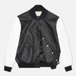 Женская куртка бомбер Maison Kitsune Quilted Teddy Black/Ecru фото- 1