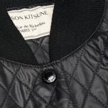 Женская куртка бомбер Maison Kitsune Quilted Teddy Black/Ecru фото- 2