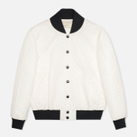 Maison Kitsune Quilted Teddy Women's Jacket Ecru photo- 0