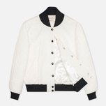 Maison Kitsune Quilted Teddy Women's Jacket Ecru photo- 1