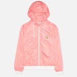 Maison Kitsune Windbreaker Hooded Womens's Jacket Pink photo- 0
