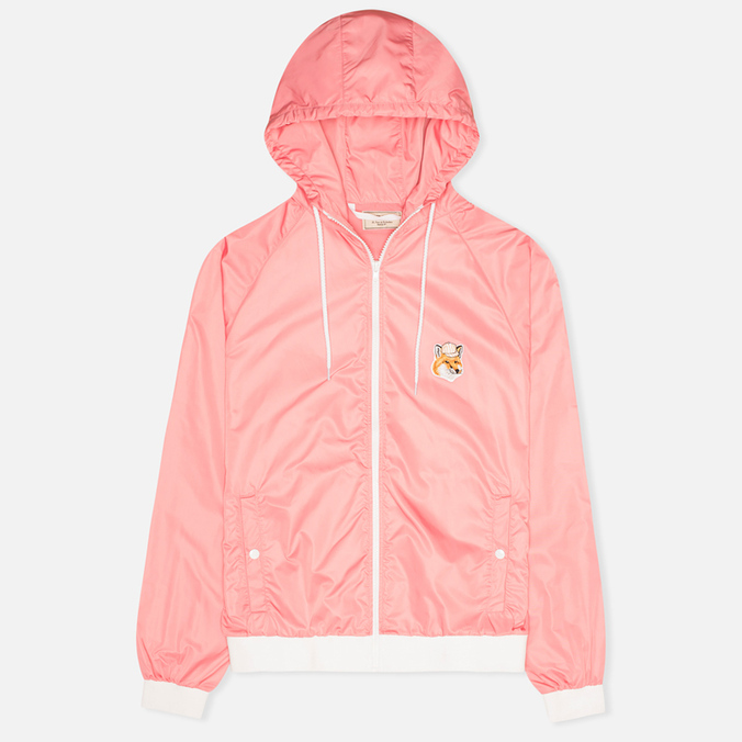 Maison Kitsune Windbreaker Hooded Womens's Jacket Pink