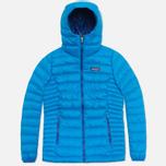 Женский пуховик Patagonia Down Sweater Hoody Andes Blue фото- 0