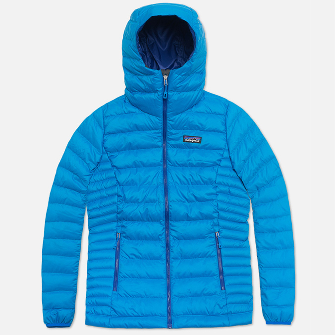Женский пуховик Patagonia Down Sweater Hoody Andes Blue