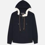 Мужская куртка анорак Woolrich Woolen Mills Anorak Seersucker Navy фото- 0