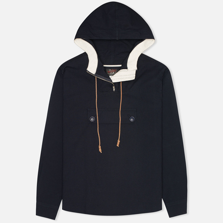 Мужская куртка анорак Woolrich Woolen Mills Anorak Seersucker Navy