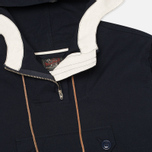 Мужская куртка анорак Woolrich Woolen Mills Anorak Seersucker Navy фото- 1